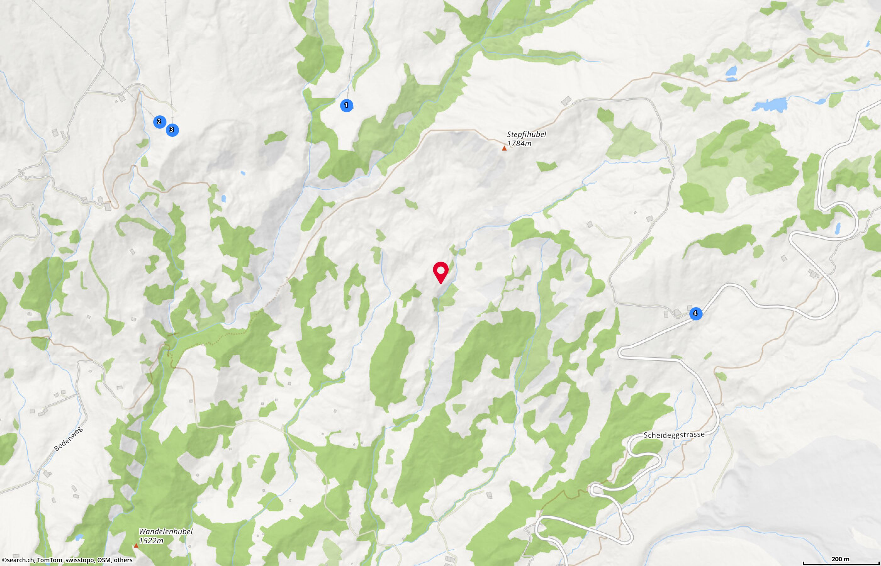 Map: Grindelwald, Undri Stepfi