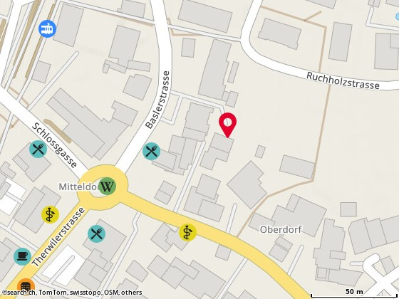 Map: Bottmingen, Baslerstr. 8