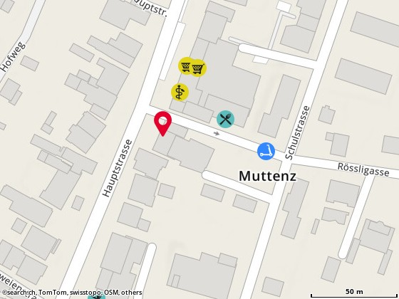 Map: Muttenz, Hauptstr. 52