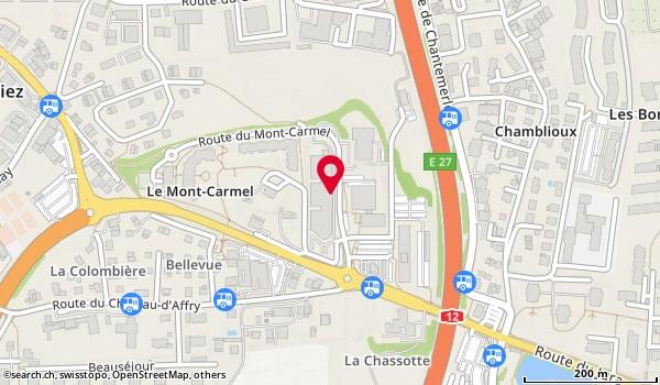 Karte: Kantonale IV-Stelle,  Givisiez,  route du Mont Carmel 5