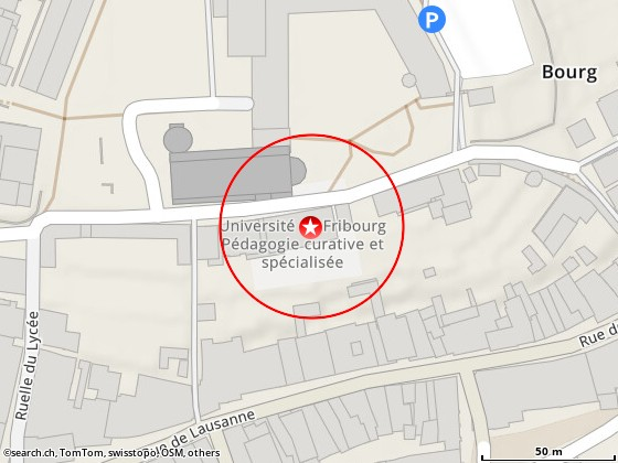 Karte: Fribourg, Rue St-Pierre-Canisius 21