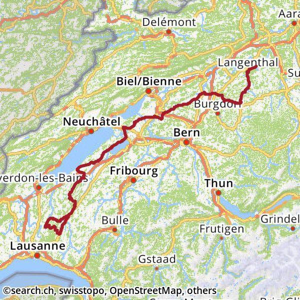 Karte: 4. Etappe Ziel