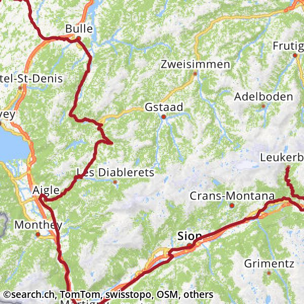 Karte: 5. Etappe Ziel