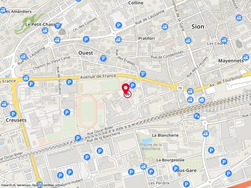 map: d'information et d'orientation cio, sion, avenue de france 23