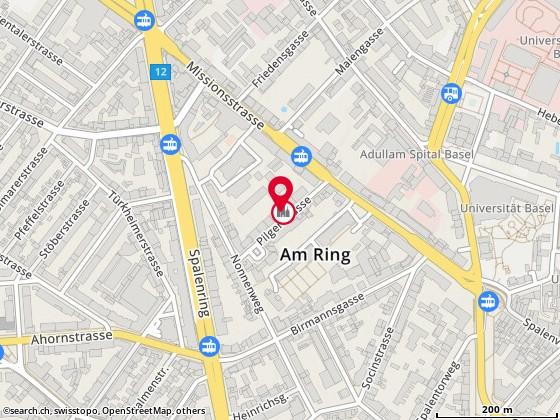 Karte: Gesundheitspraxis für Chinesische Massage, Basel, Pilgerstr. 14