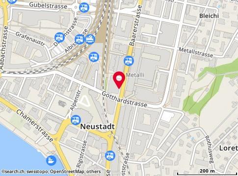 Karte: Zug, Baarerstr. 23
