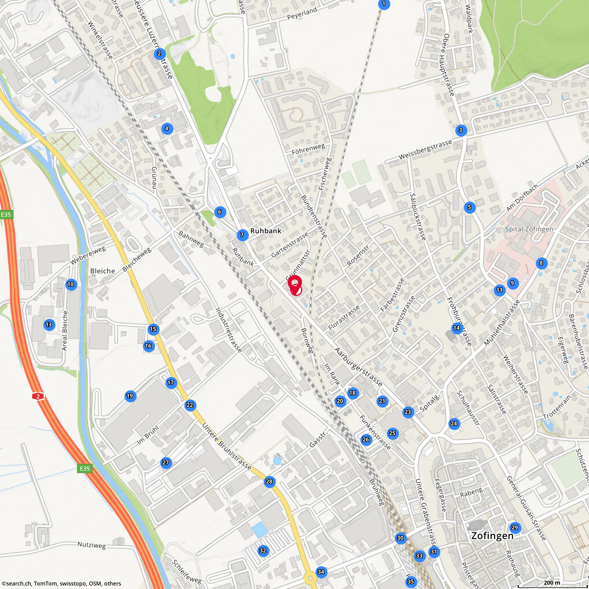 Map Nastim Ag Vito Mariniello Oftringen Aeussere Luzernerstr