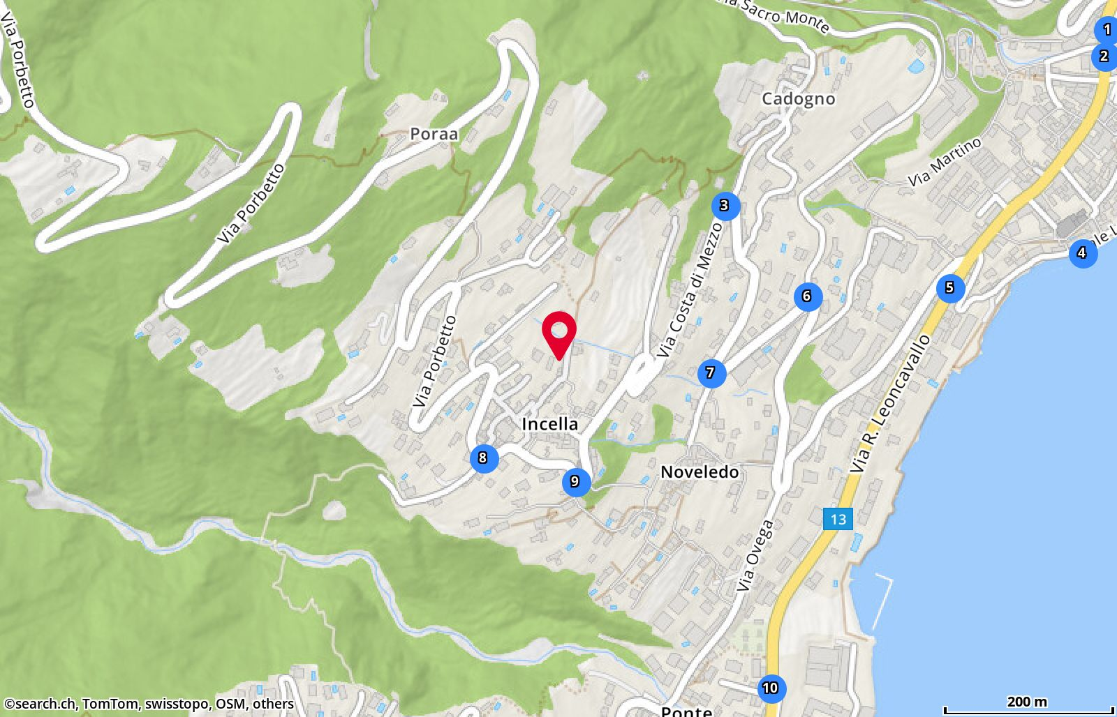 Map: Brissago, Casa Larga