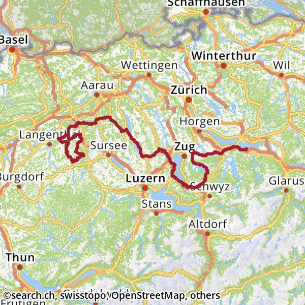 Karte: 3. Etappe Ziel
