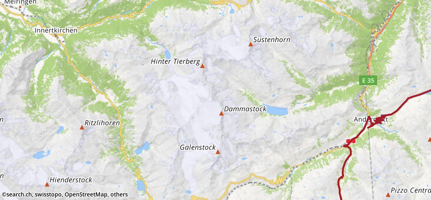 Karte: 8. Etappe Ziel