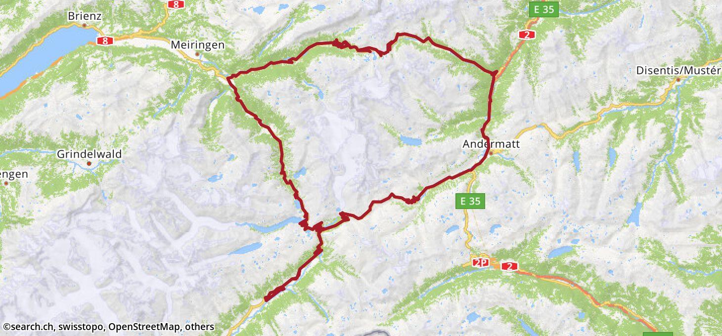 Karte: 9. Etappe Ziel