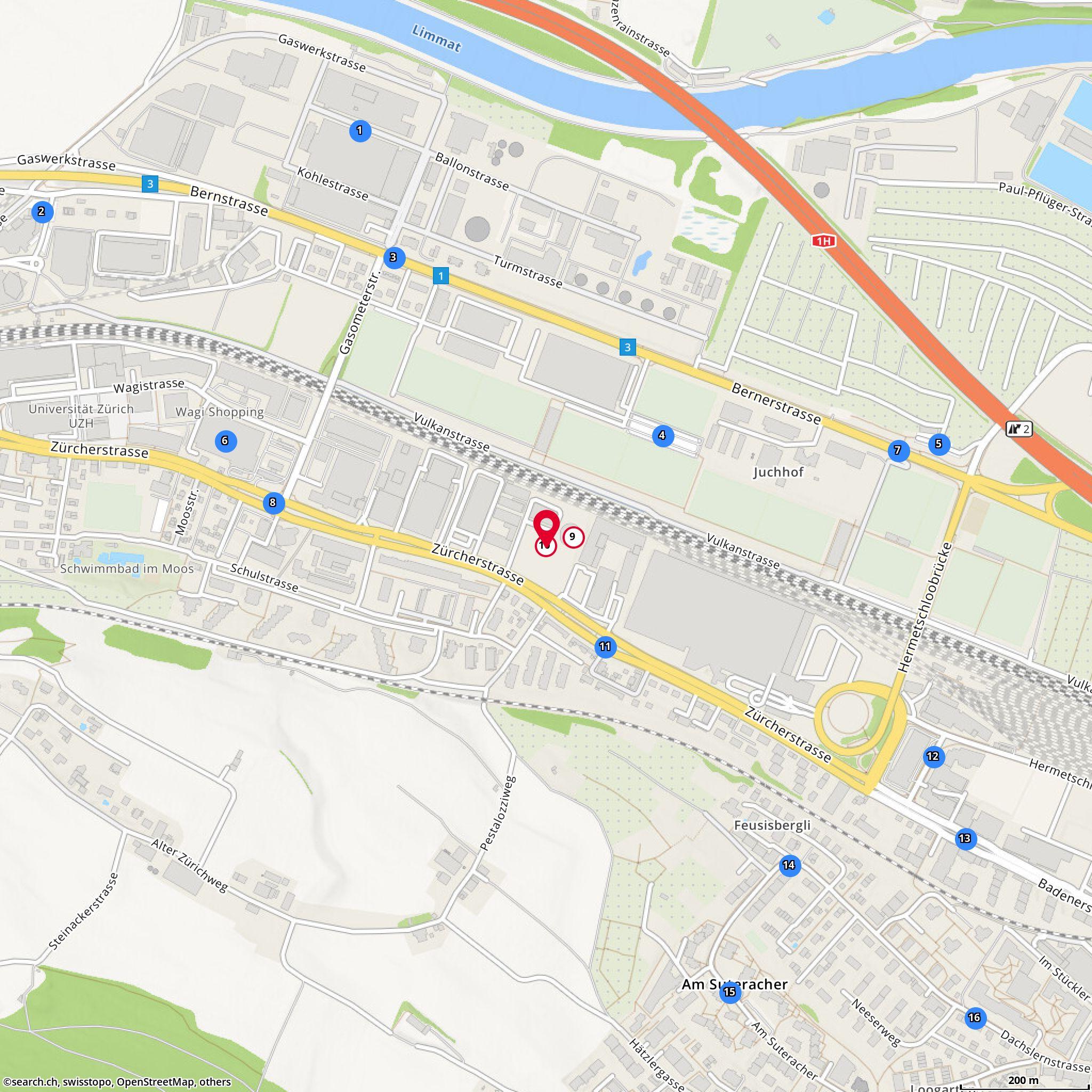 Map auto z ri west ag schlieren z rcherstr 143