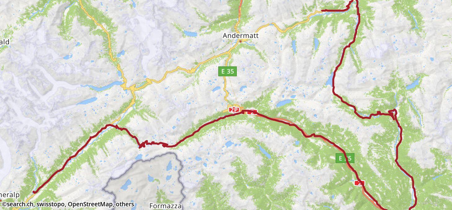 Karte: 6. Etappe Ziel