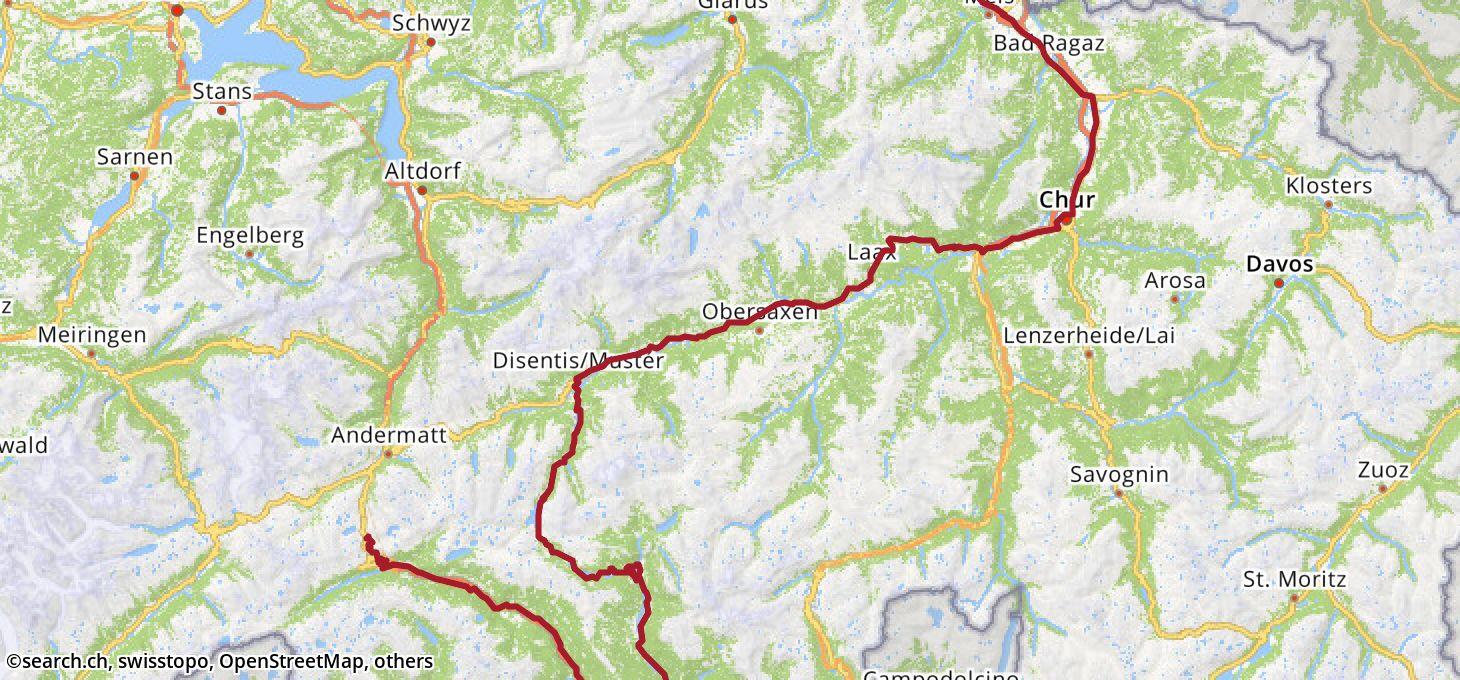 Karte: 7. Etappe Ziel