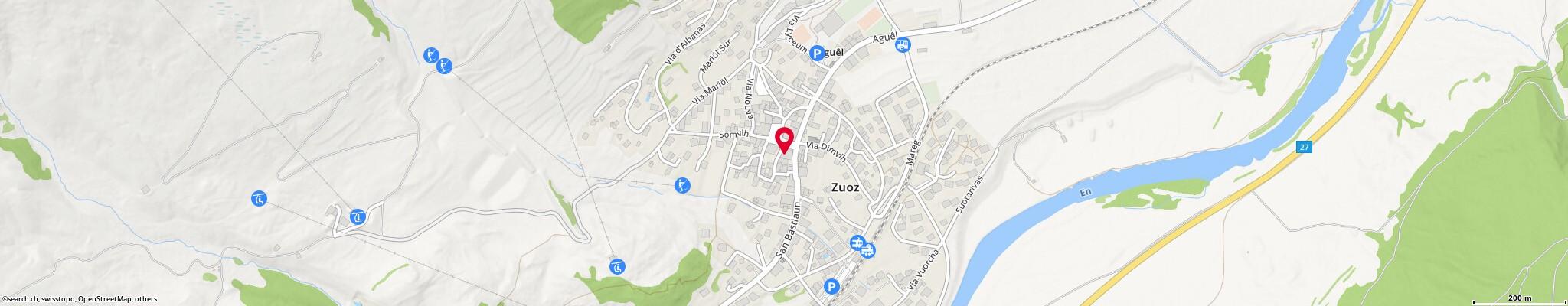Karte: Berni's Metzg, Zuoz, Straglia Chanels 25