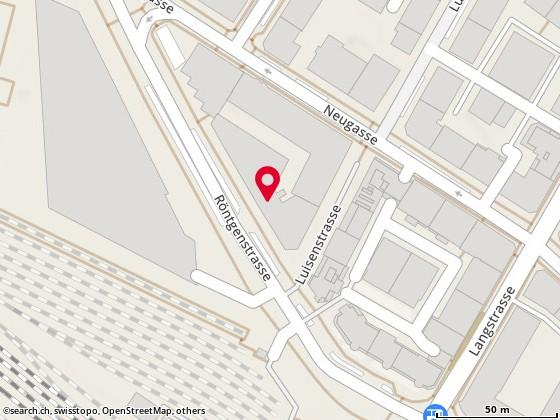 Map: Zürich, Röntgenstr. 16