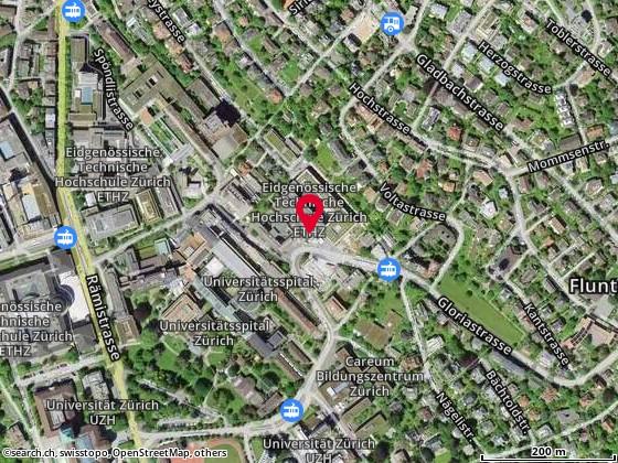Karte: Zürich, Gloriastr. 35