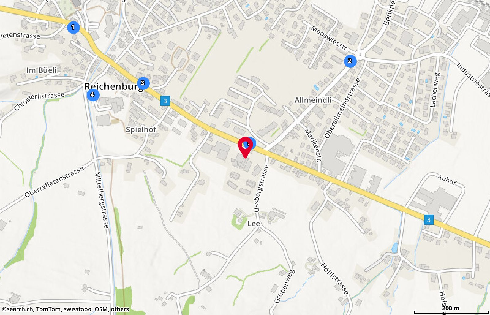 Map: Reichenburg, Kantonsstr. 60