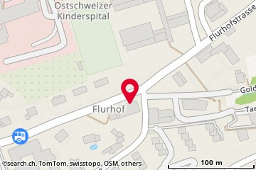 Map: St. Gallen, Flurhofstr. 70
