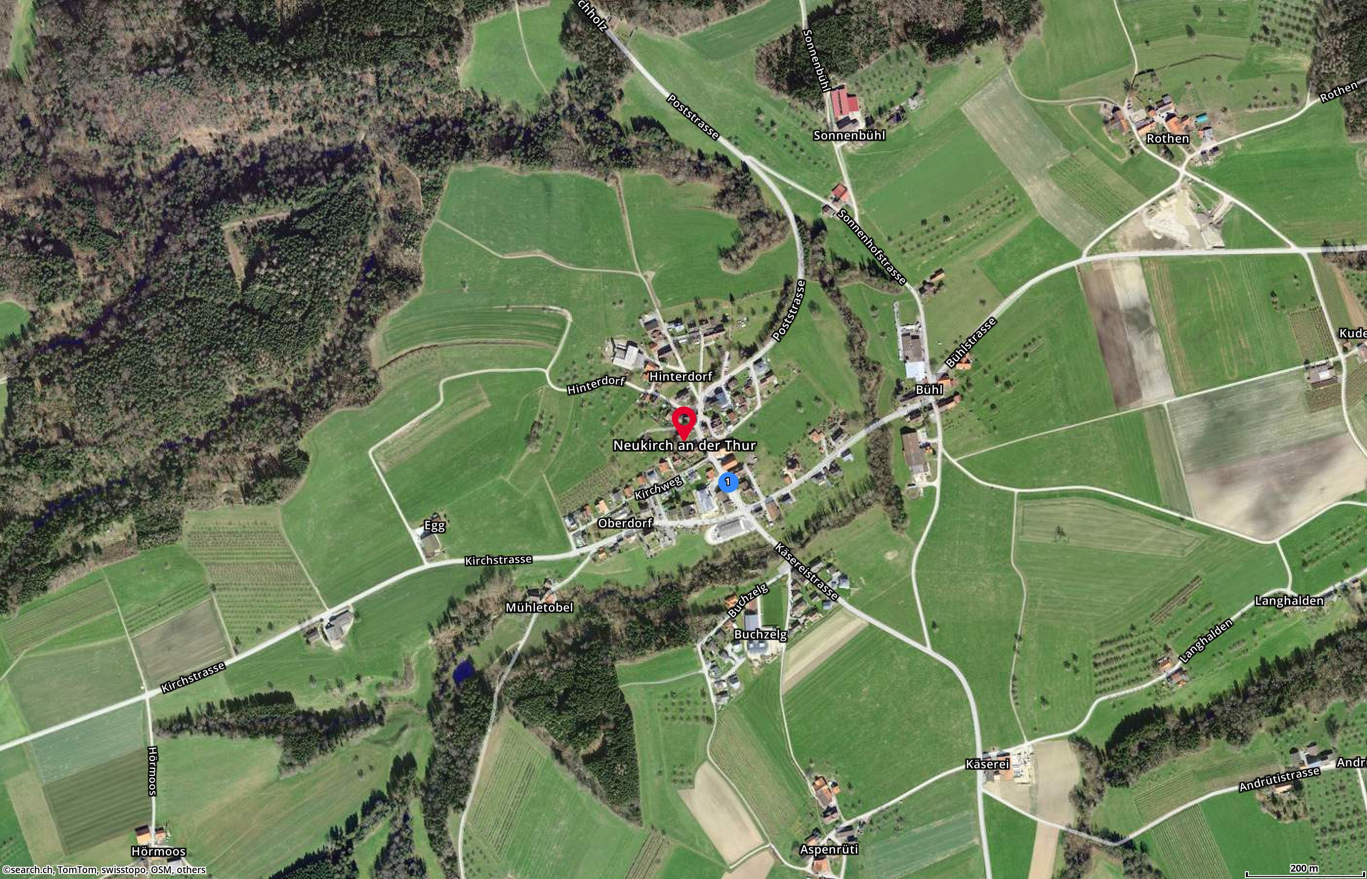 Map: Neukirch an der Thur