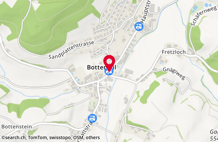Bottenwil, Dorf