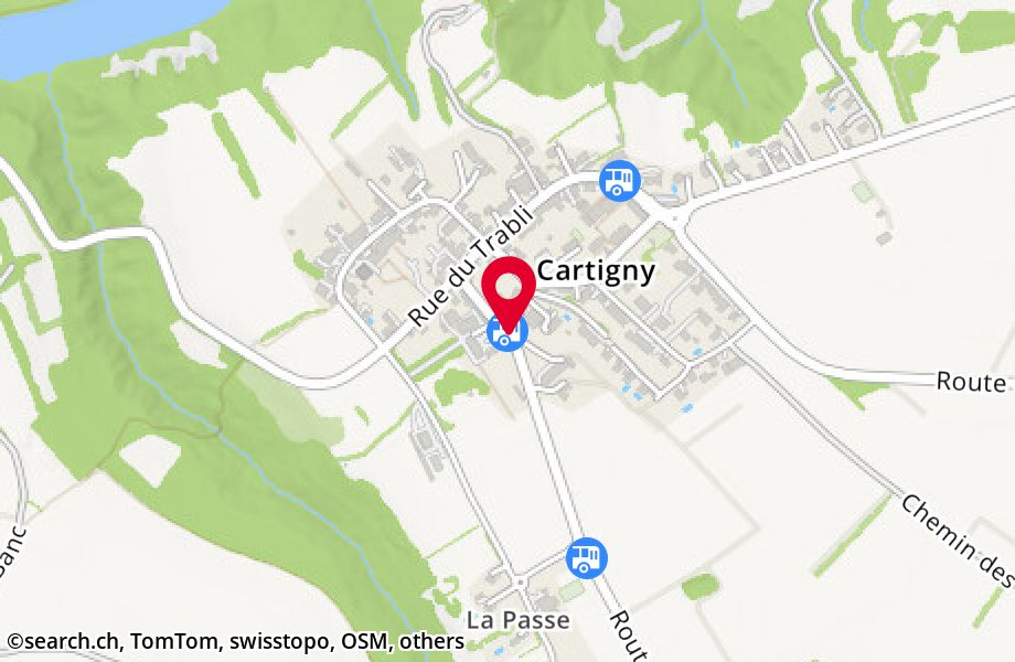 Cartigny, village