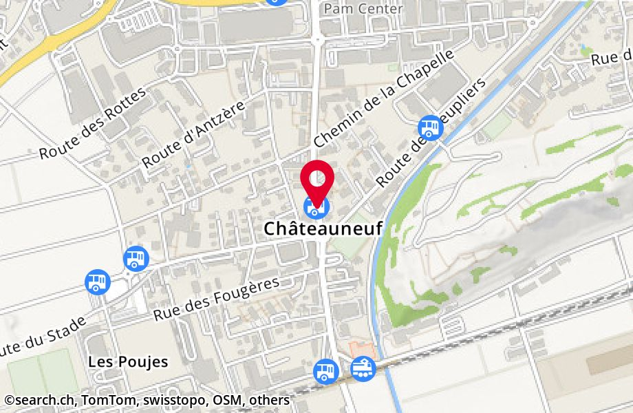 Châteauneuf (Conthey), centre