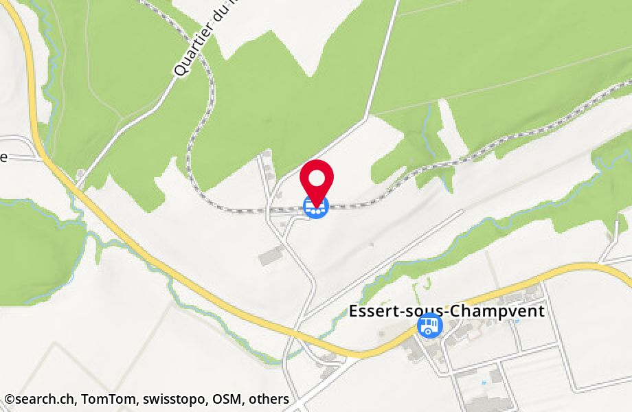 Essert-sous-Champvent, gare