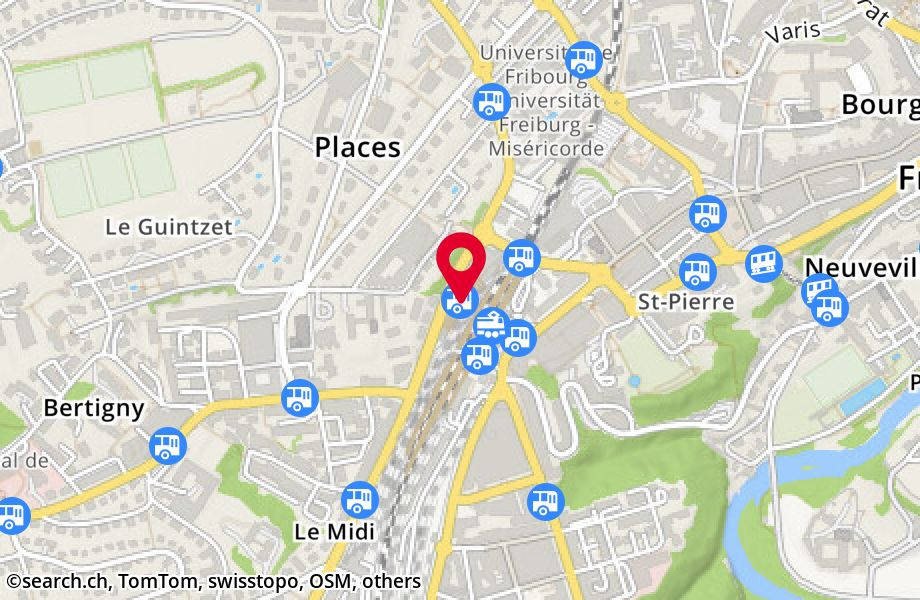 Fribourg/Freiburg, gare rout.