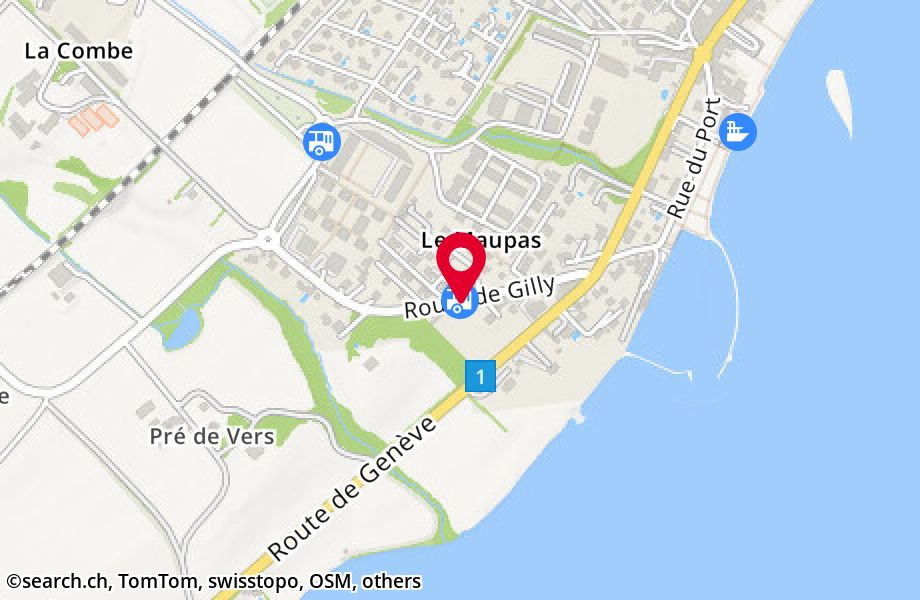 Rolle, route de Gilly