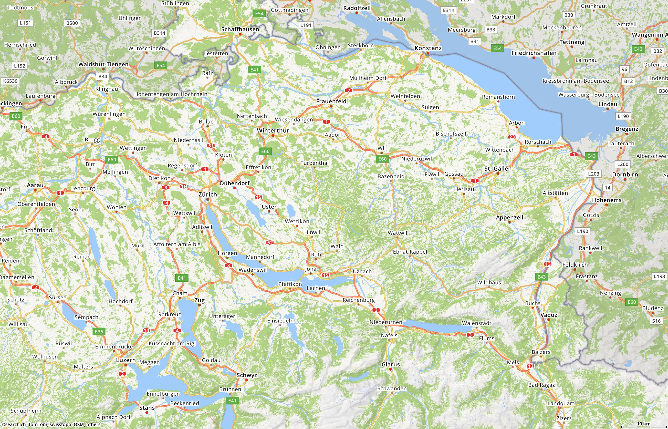 Swiss route planner