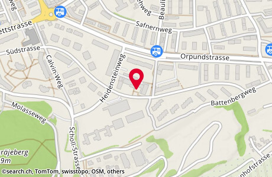 Map of Biel-Bienne Hostels, Switzerland. Biel-Bienne ...