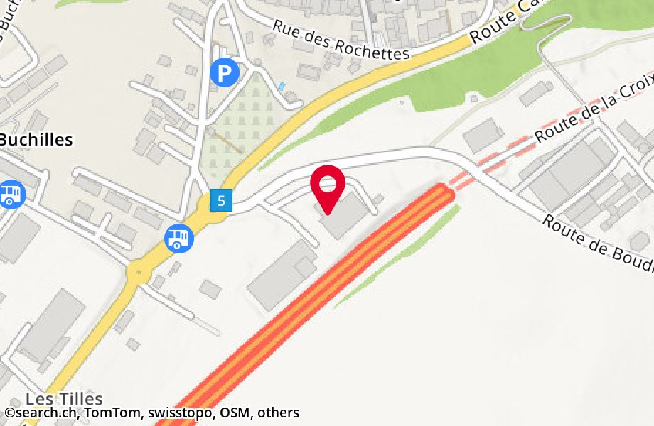 Boudry Google Satellite Map - maplandia.com