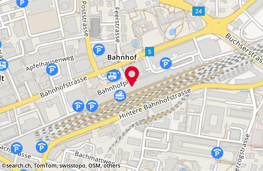 Aarau map : Google™ — share any place, address search ...